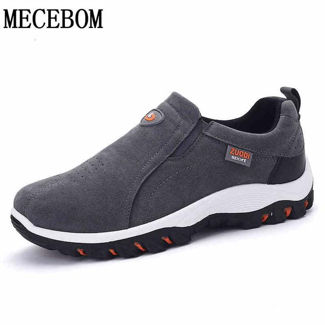 De los hombres de gran tamaño 39-47 zapatos de hombre zapatos casual slip-on zapatos hikking caminar al aire libre respirables pisos Zapatos Hombre L690M