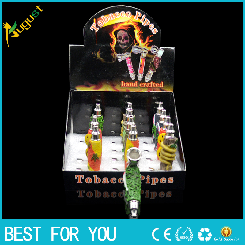 1pc rasta reggae resin pipe metal smoking pip shisha <font><b>r</b></font> <font><b>hookah</b></font> herb resin weed pipe Free shipping