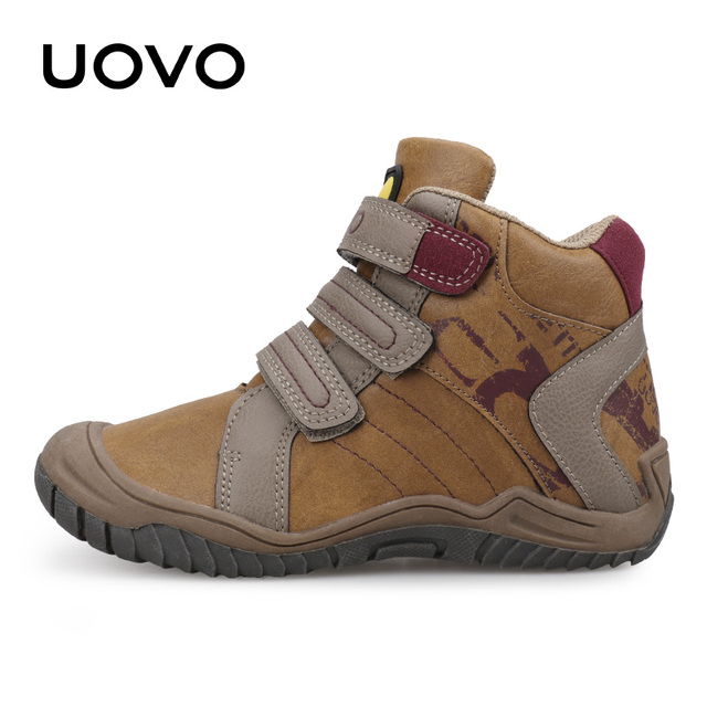 2019 UOVO New Arrival Mid-Calf Boys Shoes Fashion Kids Sport Shoes Brand Outdoor Children Casual Sneakers for Boys Size 26#-36#