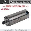 800 Вт Электрический шпиндель с водяным охлаждением 110 В 220 В ER11 с диаметром 65 мм 158 мм длина для фрезерного станка с ЧПУ