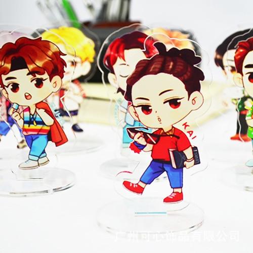 [MYKPOP]BTS Bangtan Boys 2018 NEW Acrylic Standing Cartoon Stationary KPOP Fans Collection SA18042801