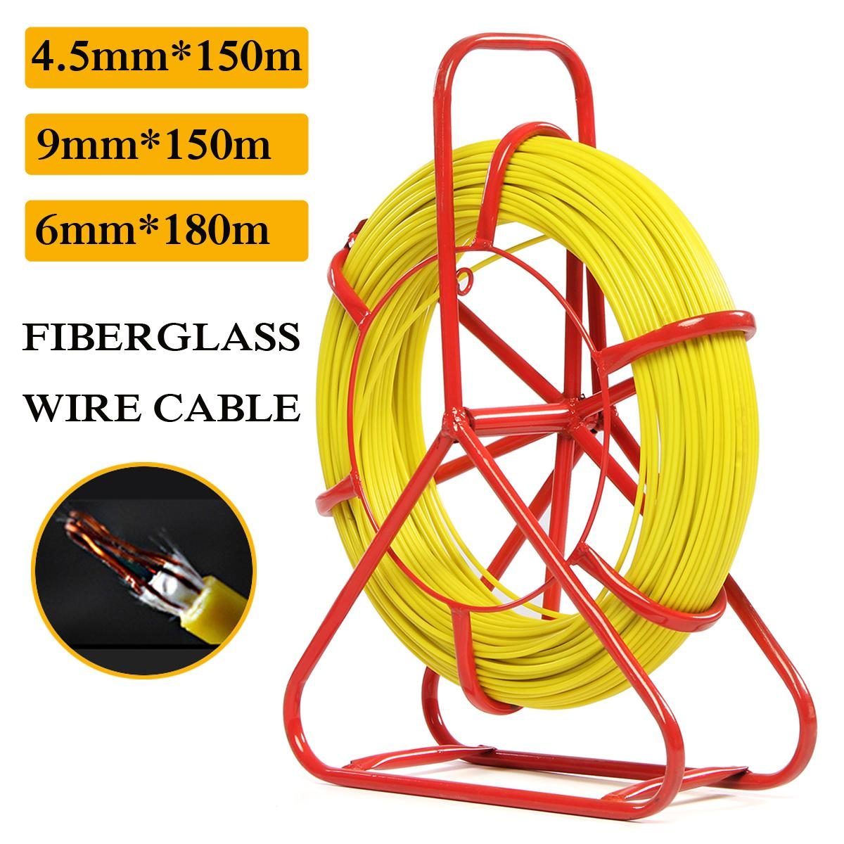 Non-conductive FISH TAPE FIBERGLASS WIRE CABLE Running Tube Running Rod Puller Kit Flsh Tape with superior pulling strength cable access kits 60cm rods with hook rings led light magnet chain cable puller push pull rod sanke rod wire puller