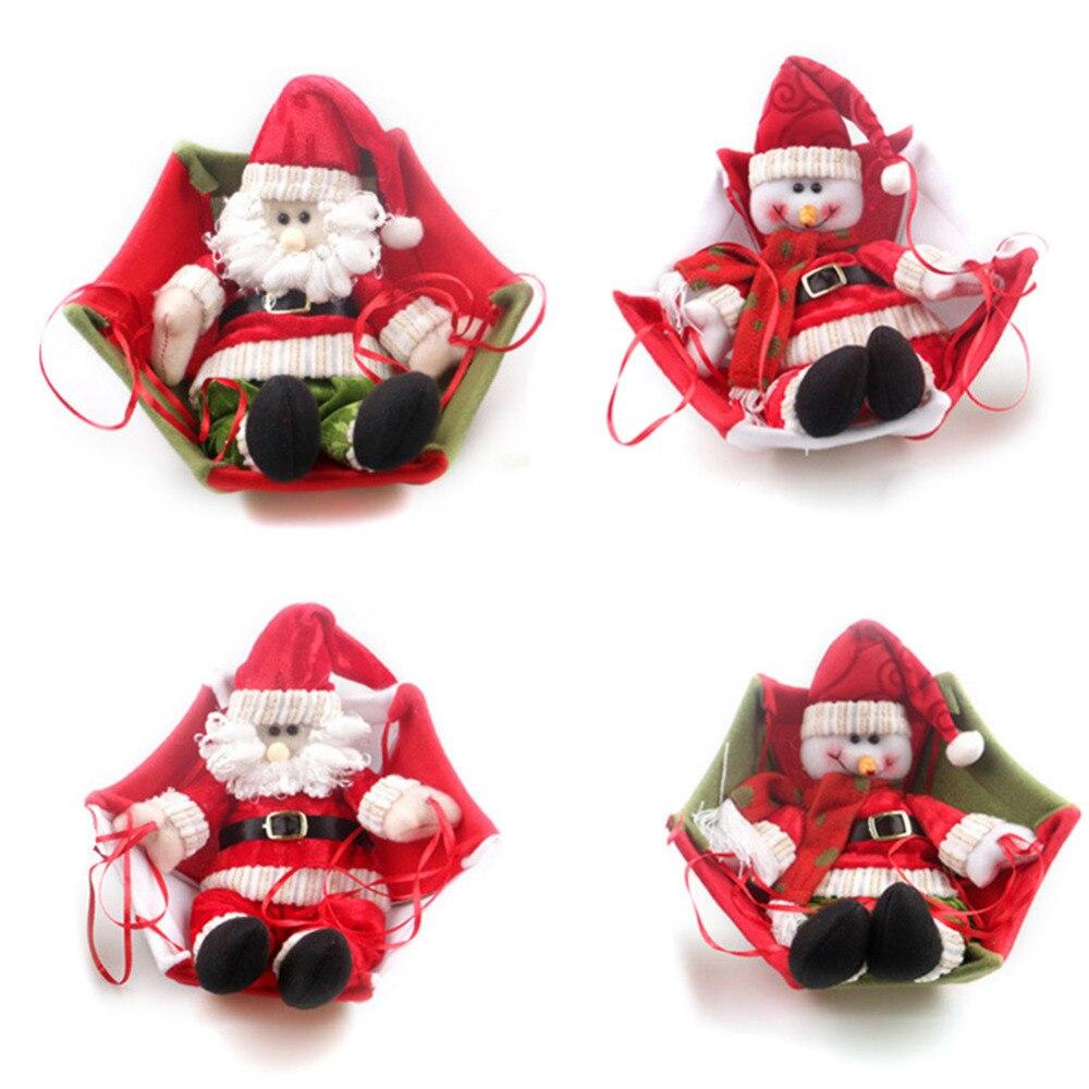 Christmas tree hanging decorations new parachute santa claus snowman - 4 Types Cute Christmas Hanging Ornaments Santa Claus Snowman With Parachute Home Party Xmas New Year