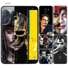 Silicone Case For Samsung Galaxy J4 J6 A6 A8 Plus A7 A9 J8 2018 A5 2017 Soft Cover Shell johnny depp(China)
