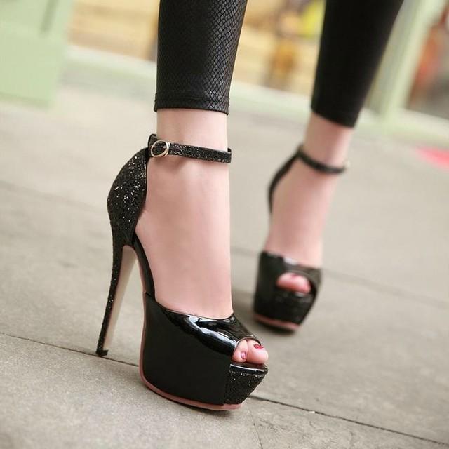 Beautiful Stiletto Pumps Peep Toe Wedding Shoes