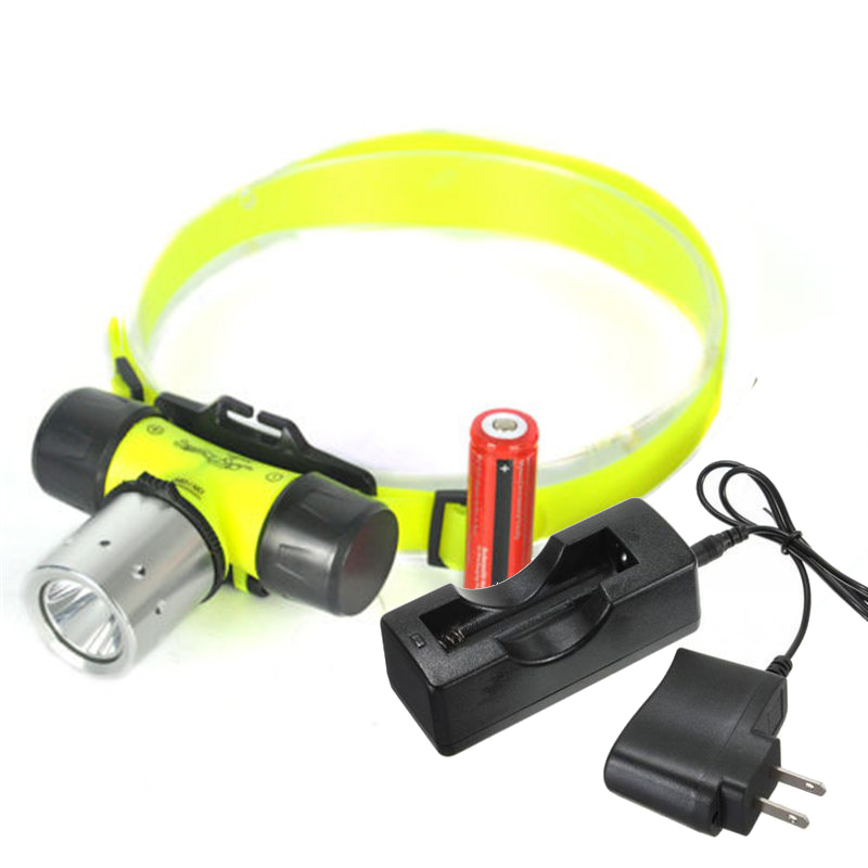Dive Headlight Underwater Light Diving 2000LM T6 Headlamp ...