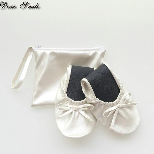 e166ee2d4be9 Wholesale women wedding gift folding ballet shoes fold up ballerina flats  with pouch-in Women s Flats from Shoes on Aliexpress.com