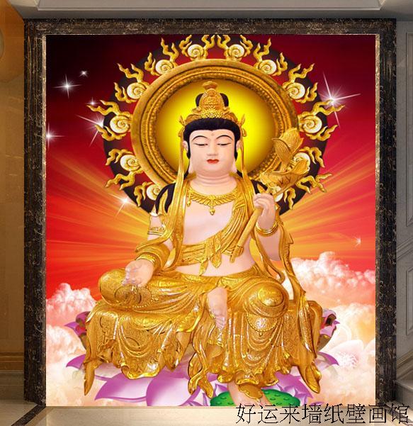 Buy free shipping custom large mural for Buddha mural wallpaper