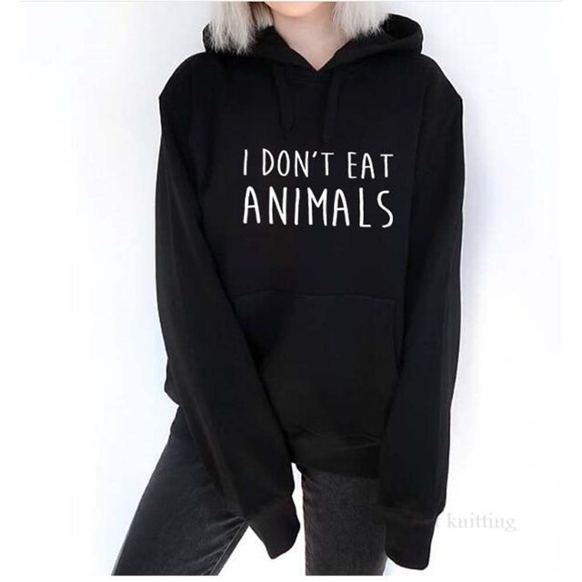 I Don't Eat Animals Printed Vegan's Sweatshirt