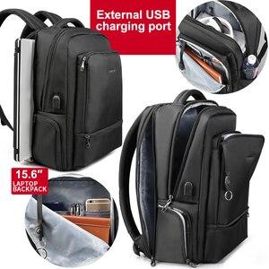 Image 3 - Tigernu Wasser Abweisend Nylon Anti theft 22L Männer 15,6 zoll Laptop Rucksack tasche USB Lade Reise Männlichen Mochila Solide Schulranzen