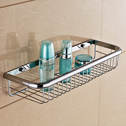 Beelee BA9411C Solid Brass Wall Mounted Shower Wire Basket Shower ...
