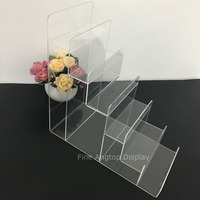 6 Layer Clear Acrylic Wallet Purse Mobile Phone Jewellery Display Stand Card Holder Rack Nail polish Cosmetic Display Shelf