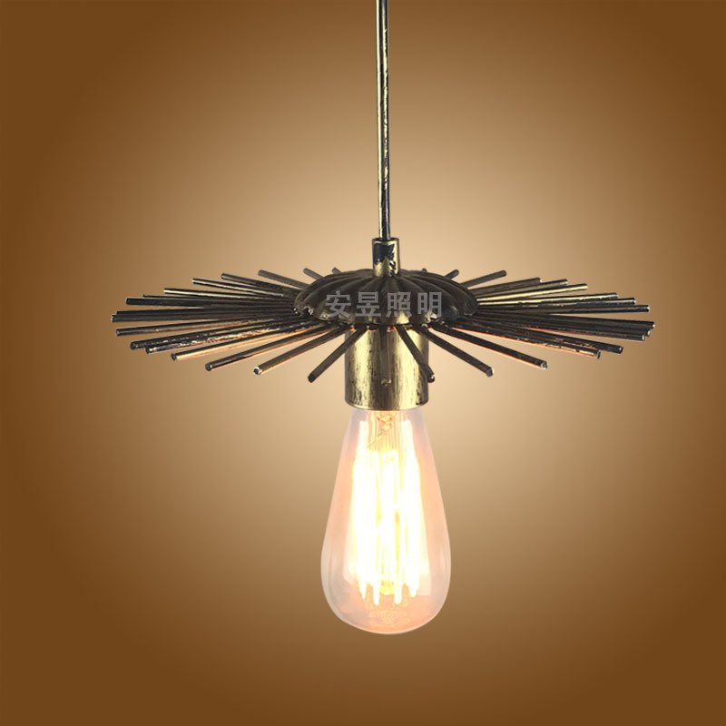 Creative vintage industrial pendant light nordic retro lights iron lampshade loft edison lamp metal cage dining room Countryside vintage industrial lamp 25cm lampara retro pendant light lampshade loft lights living dining room countryside e27 edison lamps