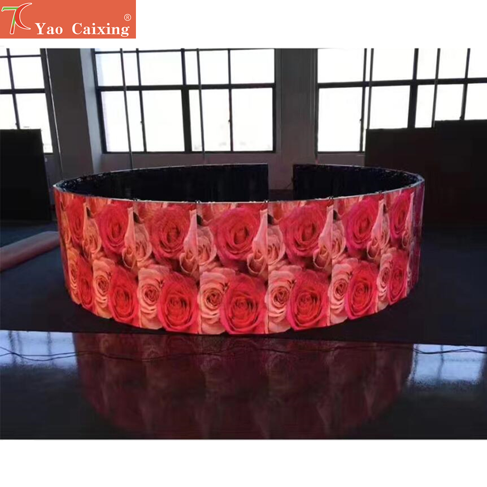 Curve Led Screen P4.81 Rgb Indoor Smd Full Color 500*1000mm Die-casting Aluminum Rental Cabinet Led Display Dot Matrix Screen