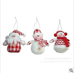 Free shipping, fabric Christmas tree ornaments, Santa, decorations, Christmas gifts, Santa Claus ...