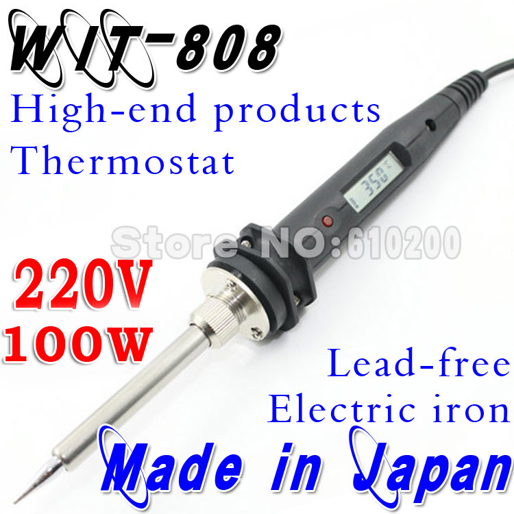 100W/220V WIT808 Temperature Thermostatic Adjustable Lead-free Electric Soldering Welding Tool Substitute Soldering station [randomtext category=