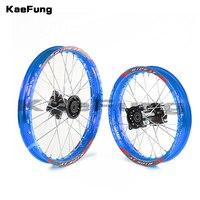blue 12mm 15mm Front 1.60 17 inch Rear 1.85 14 inch aluminium Alloy Wheel Rim For 160cc 150CC Dirt Pit bike 14 17 inch wheel