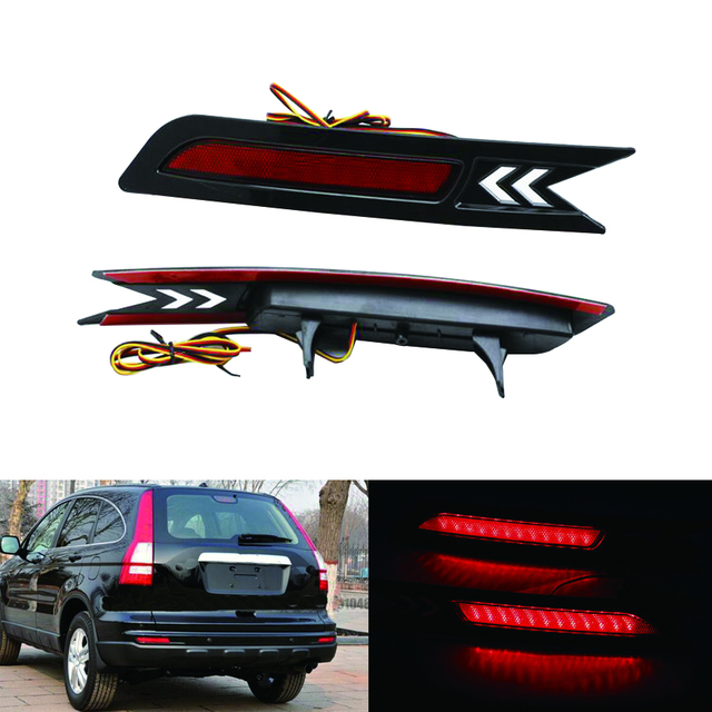 2x Red LED Rear Bumper Reflector Light Tail Brake Parking Warning  Lamp for 2010-2011 HONDA CRV CR-V