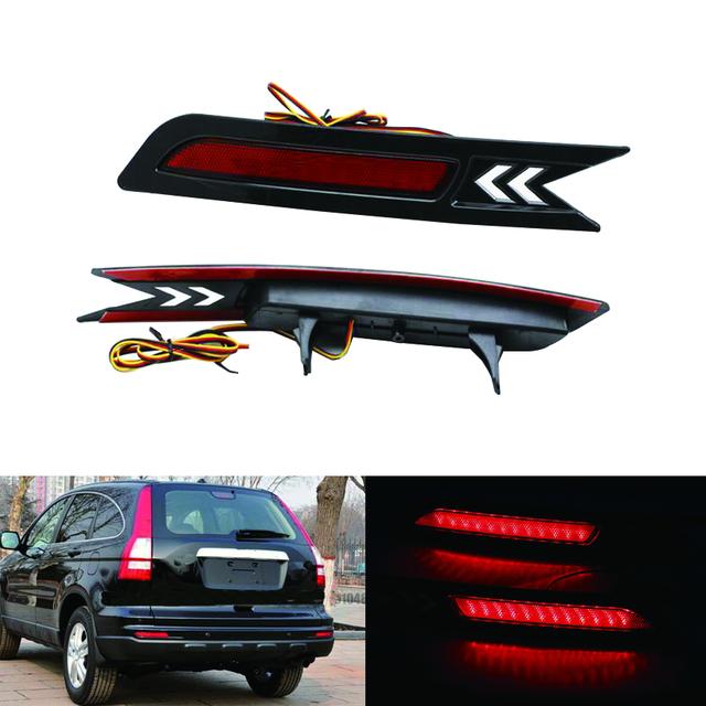 2x red levou choques refletor traseiro luz da cauda do freio de estacionamento lâmpada de advertência para 2010-2011 honda crv cr-v