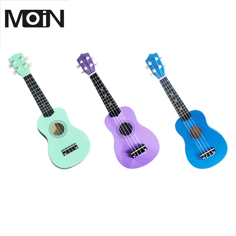 Cheap Ukelele Soprano 21 Inch Guitar Ukulele 4 Nylon String Cavaquinho Music Instrument Professional Acoustic Guitar 7 Colors