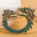 Statement Cool Dragon Brooches Fashion Men's Vintage Broches Boutique Fine Animal Brooch Punk Jewelry Broaches Woman Joias Pins