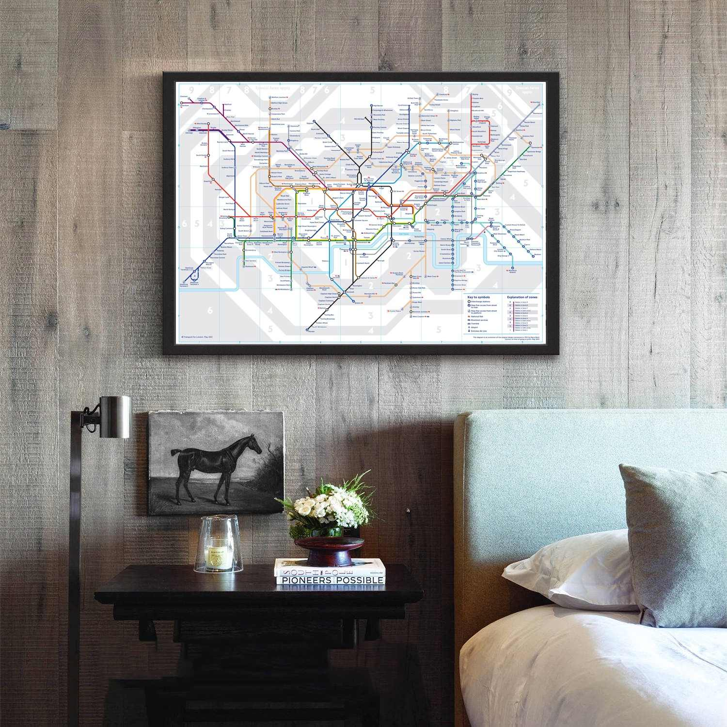 Subway Map Wall Art Wall Art Stickers Wall Decal Huge Underground Tube Map.London Tube Map Movie Wall Art Paint Wall Decor Canvas Prints Canvas Art Poster Oil Paintings No Frame