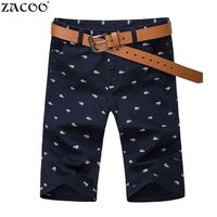 ZACOO 2017 Men S Cotton Shorts Summer Men Shorts Homme Stylish Print Casual Beach Shorts Male