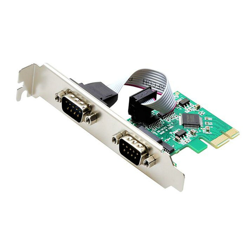 Great-Q 2 Port RS232 Serial Port COM to PCI-E PCI Express riser Card Adapter Converter PCIE adaptator