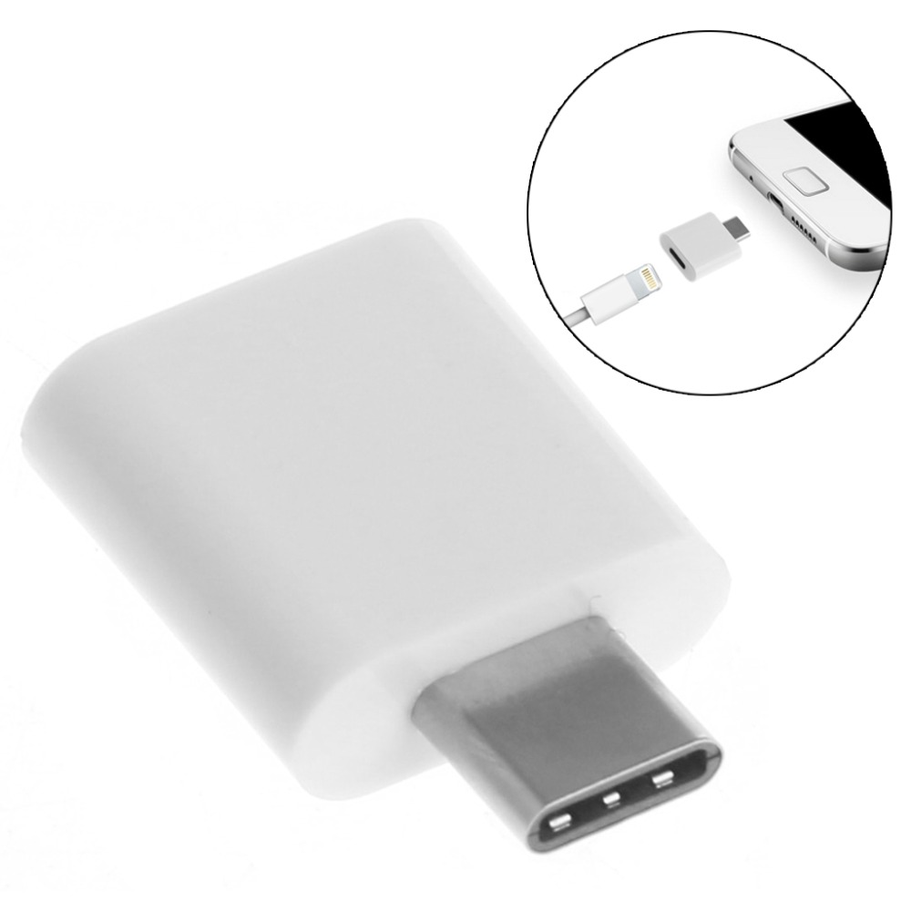 8-Pin Female To Type C Male Data Trasferring Sync Charger Adapter Converter For LG Oneplus Huawei Google HTC OnePlus