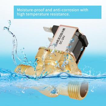 цена на 24V Solenoid Valve BSPP G1/2 Brass Normally Electric Solenoid Valve 2 Way Pressure Regulating Valve N/C Solenoid Valve For Water