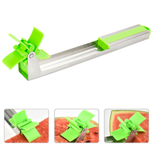 Watermelon Cutter Windmill Shape Slicer Stainless Steel Fruit Melons Knife Fast Cutting Tool