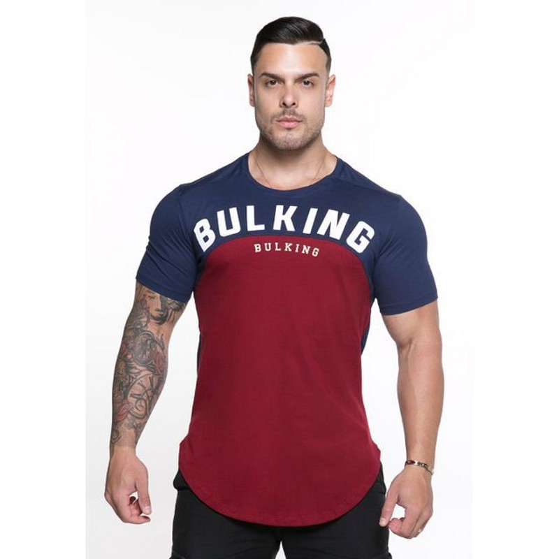 Men T-shirt 2018 summer Solid Color Curved Hem Long Line bodybuilding Tee Shirts Men Top Hip Hop Summer Cotton Men gyms T shirt