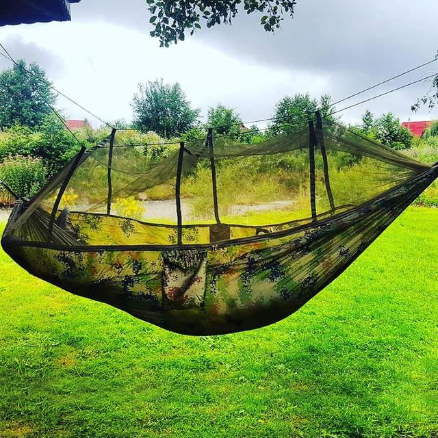 2 person familie hængekøje med myggenet
