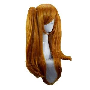 Image 4 - Hairjoy人工毛最後のセラフ吸血鬼krul tepesコスプレオレンジブロンドピンクダブルポニーテールポニーテールコスプレかつら