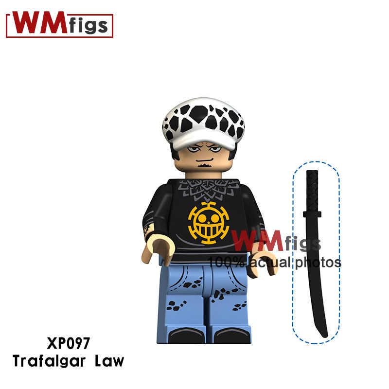 Один Аниме one piece Нико Робин франки нами Брук шанкусу Сабо Луффи с оружием строительные кубики, детские игрушки подарок для мальчиков