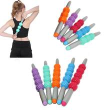 Muscle Massage Roller Yoga Stick Muscle Massage ball Roller Yoga Stick with Trigger Point Spiky Ball Body Foot Face Leg Slimming(China)
