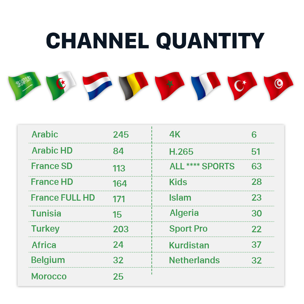 Image 2 - IPTV Turkey French Full HD Netherlands Algeria IPTV Subscription for Android free test IPTV Belgium Arabic France Morocco IP TV-in Set-top Boxes from Consumer Electronics