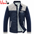 Uni-Splendor 2016 Autumn New Stand Collar Men Warm Jacket Patchwork Mens Casual Winter Cotton Button Coat Male Outerwear YN719