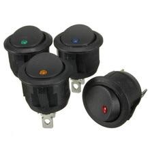 3 Pins Round ON/OFF Rocker Push Button Switch LED illuminated Car Dash Boat 6A 250V AC/10A 125V AC
