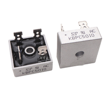20 шт./лот диодный мост KBPC5010 50A 1000 В Диодные мосты выпрямитель kбпц 5010 мощность выпрямитель KBPC5010 диод