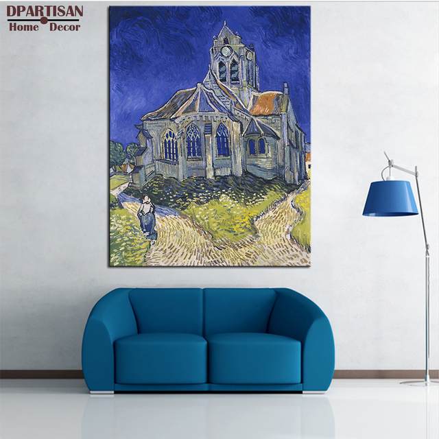 DPARTISAN Vincent Van Gogh The Church in Giclee wall Art Canvas ...