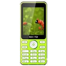 Ecetd E168 клавишные сотовом телефоне 1650 мАч батареи и долгосрочные ожидания 2.4 дюймов экран яркие цвета с модным дизайном