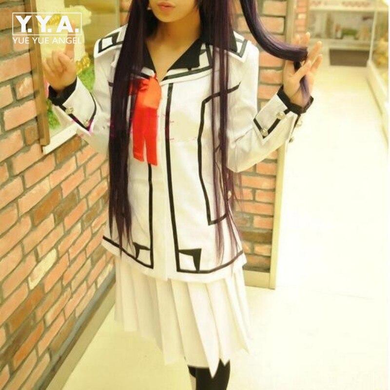 White Wholesale Fashion New Female HOT Vampire Knight Cosplay Costume Yuki Cross Black Dress Female Free Shipping