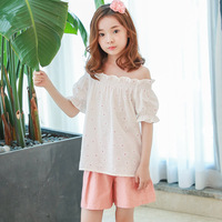 wholesale floral pattern girls summer sets 100% cotton kids outfits girls children clothing tops shorts 2 pcs girl clothes suits