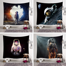 Creative Astronaut Universe Printed Nordic Style Witchcraft Decorative Hippie Mandala Macrame Bohemian Wall Hanging Tapestry
