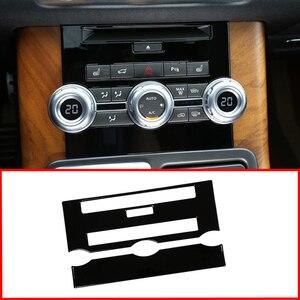 ABS del Bicromato di Potassio Dell'automobile Accessori di Controllo Centrale CD Pannello di Aria Condizionata Cornice Cornice per Land Rover Range Rover Sport L320 2012 2013(China)