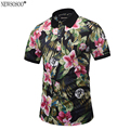 "Newsosoo Brand full print flower ""17"" designer Polo Shirt Men summer style 2017 men's Polo shirt tops male M-3XL PT7"