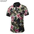 """Newsosoo marca estampado de flores completa """"17"""" diseñador estilo polo hombres de la camisa de verano 2017 de los hombres camisa de polo tops masculinos m-3xl pt7"""