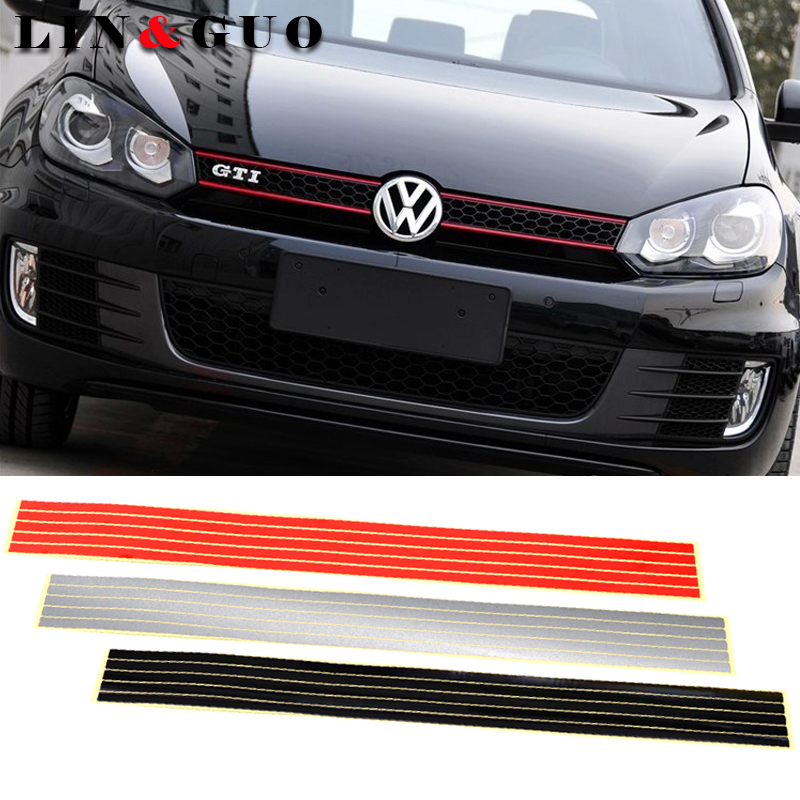 Reflective Stripe Sticker Line Tape fit <font><b>For</b></font> Volkswagen CC <font><b>GOLF</b></font> 7 <font><b>Golf</b></font> <font><b>6</b></font> MK6 Polo <font><b>GTI</b></font> <font><b>VW</b></font> Tiguan car styling <font><b>accessories</b></font> image