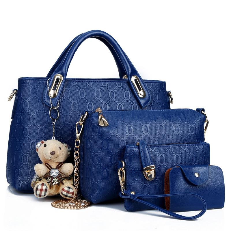 7908cd83dca1 Flying Birds Women Leather Handbag Set Luxury Tote Women Bag Brands ...